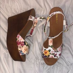 Bamboo Floral Wedges